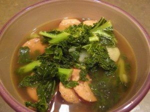 One Pot Kale and Turkey Soup