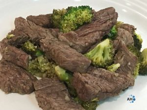 Gingery Broccoli and Beef