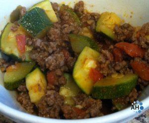 Spicy Zucchini & Beef Skillet