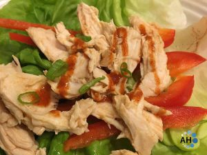 Crock Pot Buffalo Chicken Lettuce Wrap