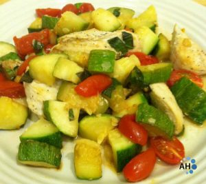 Garlic Margherita Chicken and Zucchini
