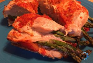 Stuffed Chicken with Spicy Red Pepper Sauce