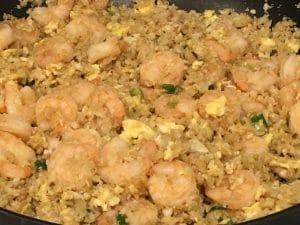 """Cauliflower Shrimp """"Fried Rice"""""""