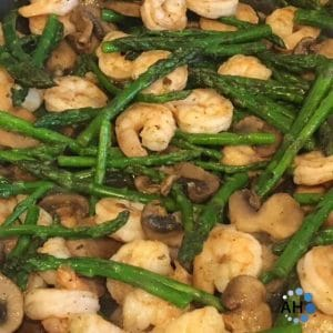 Shrimp, Asparagus & Mushrooms