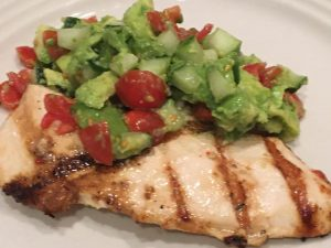 Grilled Chicken with Avocado, Tomato and Cucumber